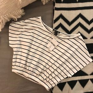 NWT - Forever21 striped crop top